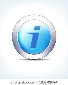 Blue Icon Button Hospital Information Healthcare & Pharma - Raster Version