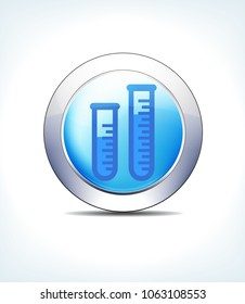 Blue Icon Button Test Tube Sample, for use in your Healthcare Pharmaceutical presentations - Raster Version
