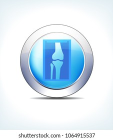 Blue Icon Button X-Ray, for use in your Healthcare & Pharmaceutical presentations - Raster Version
