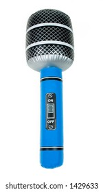 Blue Inflatable Toy Microphone