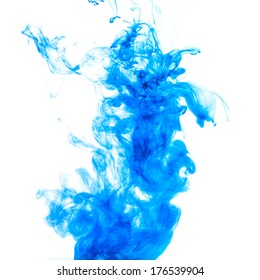 Blue ink abstract background
