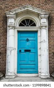 Blue Irish Georgian Door Dublin, Ireland