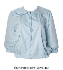 blue jacket blouse shirt
