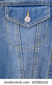 blue jacket jeans -pocket textile