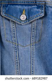 blue jacket pocket jeans texture