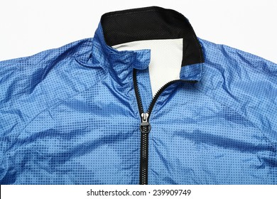 blue jacket windbreaker