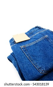 blue jeans back pocket isolated on the white background