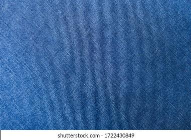 Blue jeans fabric denim texture background.