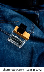 blue jeans and men's perfume