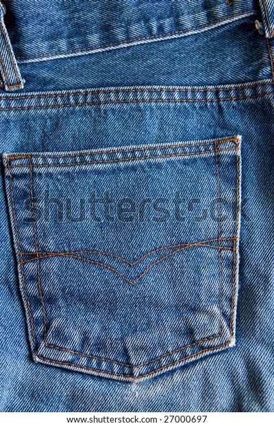 blue jeans with pocket