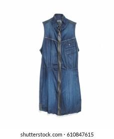 Blue jeans sleeveless dress