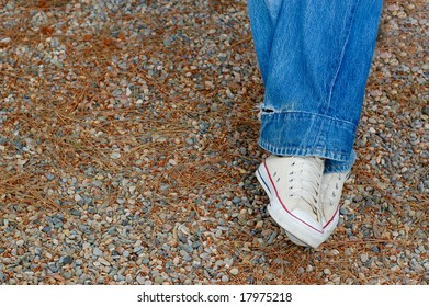 Blue Jeans and White Sneakers