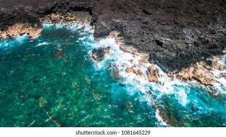 Blue Kailua Kona Hawaii Wave Attack Rock