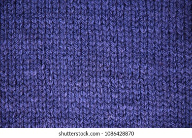 Blue knit texture in full frame