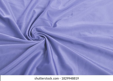 blue Knitted elastic fabric, weaving of threads texture, curl crumpled fold. For underwear, sports clothes and swimwear. Space for text.