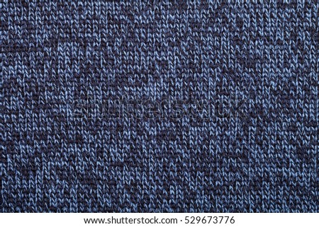 780ef8254a6023 Blue Knitted Fabric Made Heathered Yarn Stock Photo (Edit Now ...