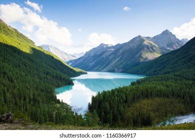 The blue Kucherla lake, Altai mountains