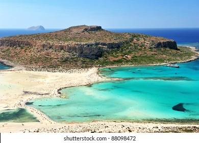 Blue lagoon in Ballos, Crete, Greece