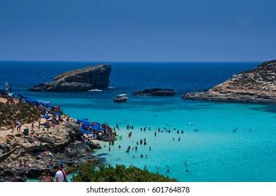 Blue Lagoon, Comino and Cominotto, Malta.