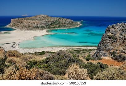 Blue lagoon in Grecce Crete