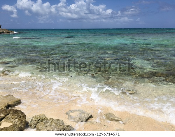 Blue Lagoon Island Bahamascirca 2017view Beach Stock Photo