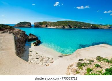 Blue lagoon Malta Comino Gozo Island Paradise