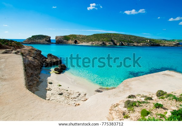 Blue Lagoon Malta Comino Gozo Island Stock Photo Edit Now