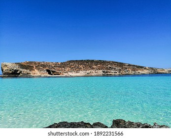Blue lagoon in Malta Comino island