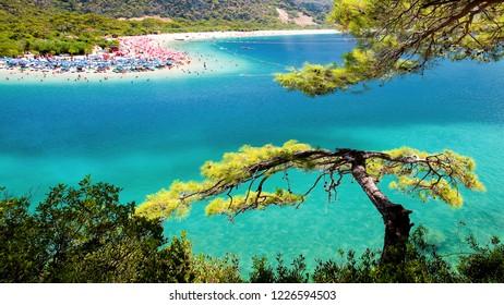 Blue Lagoon in Oludeniz Fethiye, Turkey