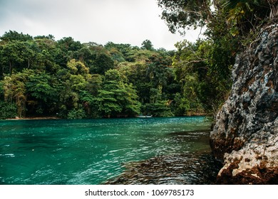 Blue lagoon on Jamaica