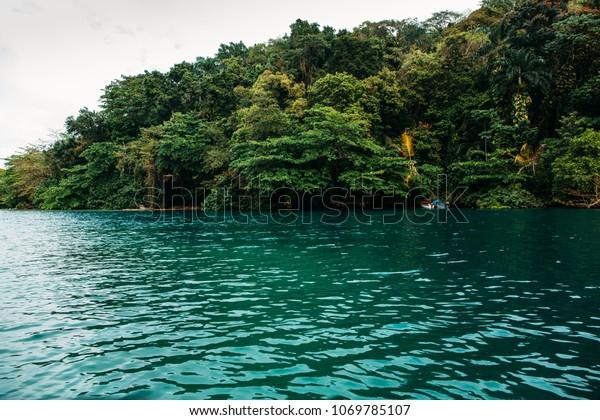 Blue Lagoon On Jamaica Stock Photo Edit Now 1069785107