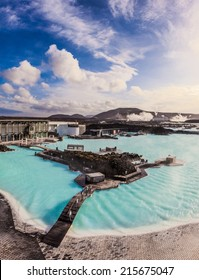 Blue lagoon outdoor geothermal pool, Iceland