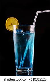 Blue Lagoon; popular summer cocktail featuring blue Curacao.