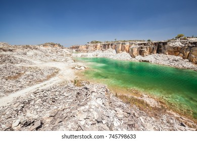 Blue Lagoon Quarry at Serra da Canastra National Park - Minas Gerais - Brazil