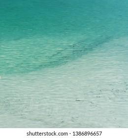blue lagune water pattern square