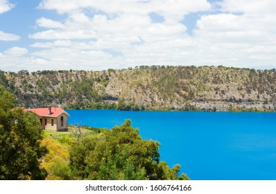 The Blue lake is an amazing lake with naturally very vivid blue colour water, located in Mount Gambier in South Australia.