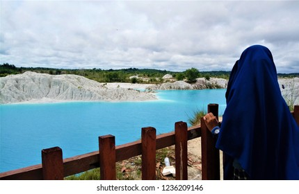 Blue lake called Kaolin in Bangka Belitung