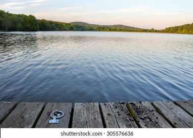 Blue Lake Dock at Twilight