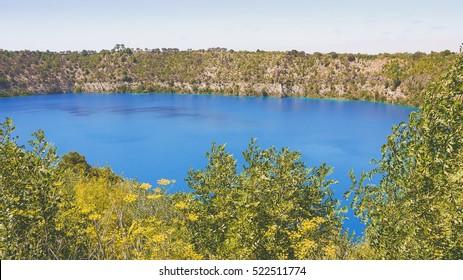 Blue Lake in Mount Gambier, South Australia