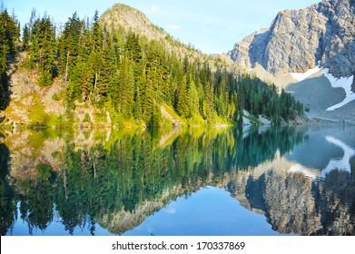 Blue Lake in North Cascades National Park, Washington State, USA