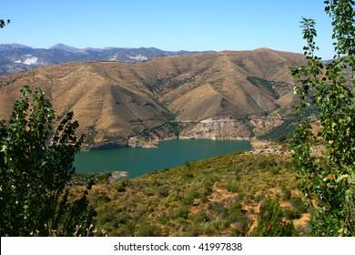 Blue lake Sierra Nevada Mountains, near Granada