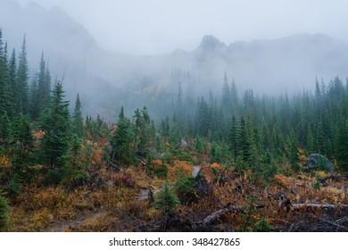 Blue Lake trail, Autumn, North Cascades region