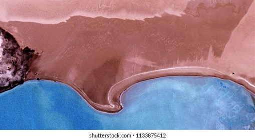 the blue lake,allegory,black gold,polluted desert sand,tribute to Pollock, abstract photography of the deserts of Africa from the air, aerial view, abstract expressionism, contemporary photographic ar