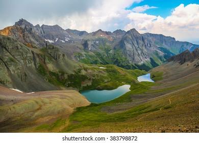 Blue Lakes at Mount Sneffels, Colorado