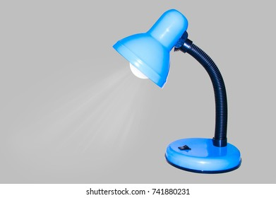 The blue lamp, the rays of white light