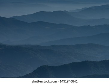 Blue Layers of Mountains in early morning light