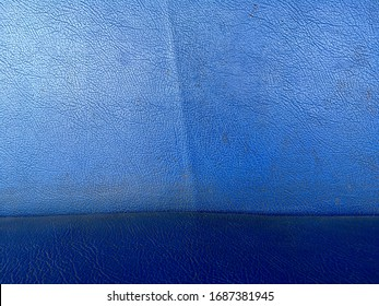 Blue leather surface texture background abstract