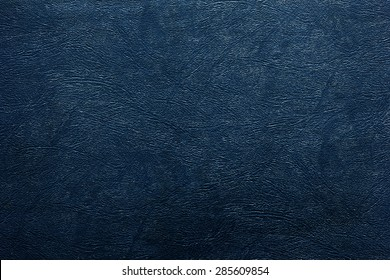 Blue leather texture or background.