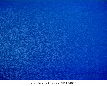 blue leather texture. background macro. PU leather