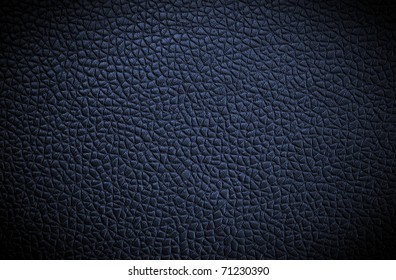 blue leather texture. Close up.